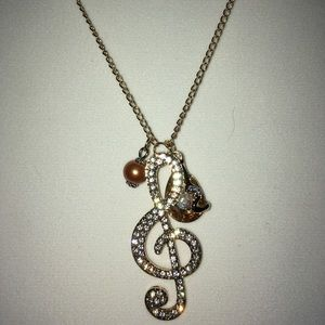 Jewelry - Handmade Good Luck 🍀 Music Lover Necklace Only 1